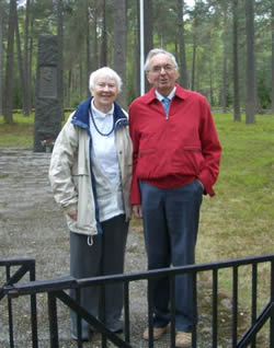 Aase Berit and Erling Storrusten  at Russian Cemetery